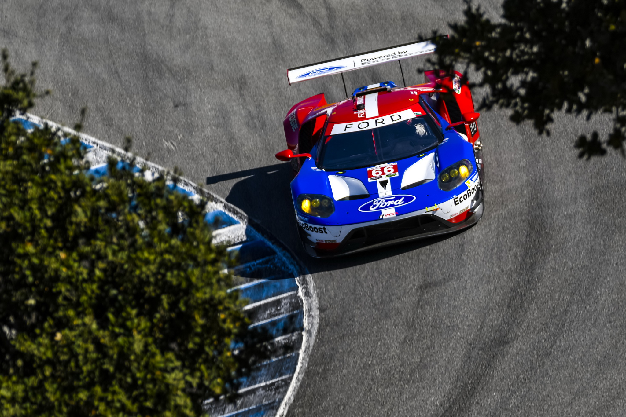 Ford Chip Ganassi Racing Finishes Mid-Pack After Showing Speed at Laguna Seca