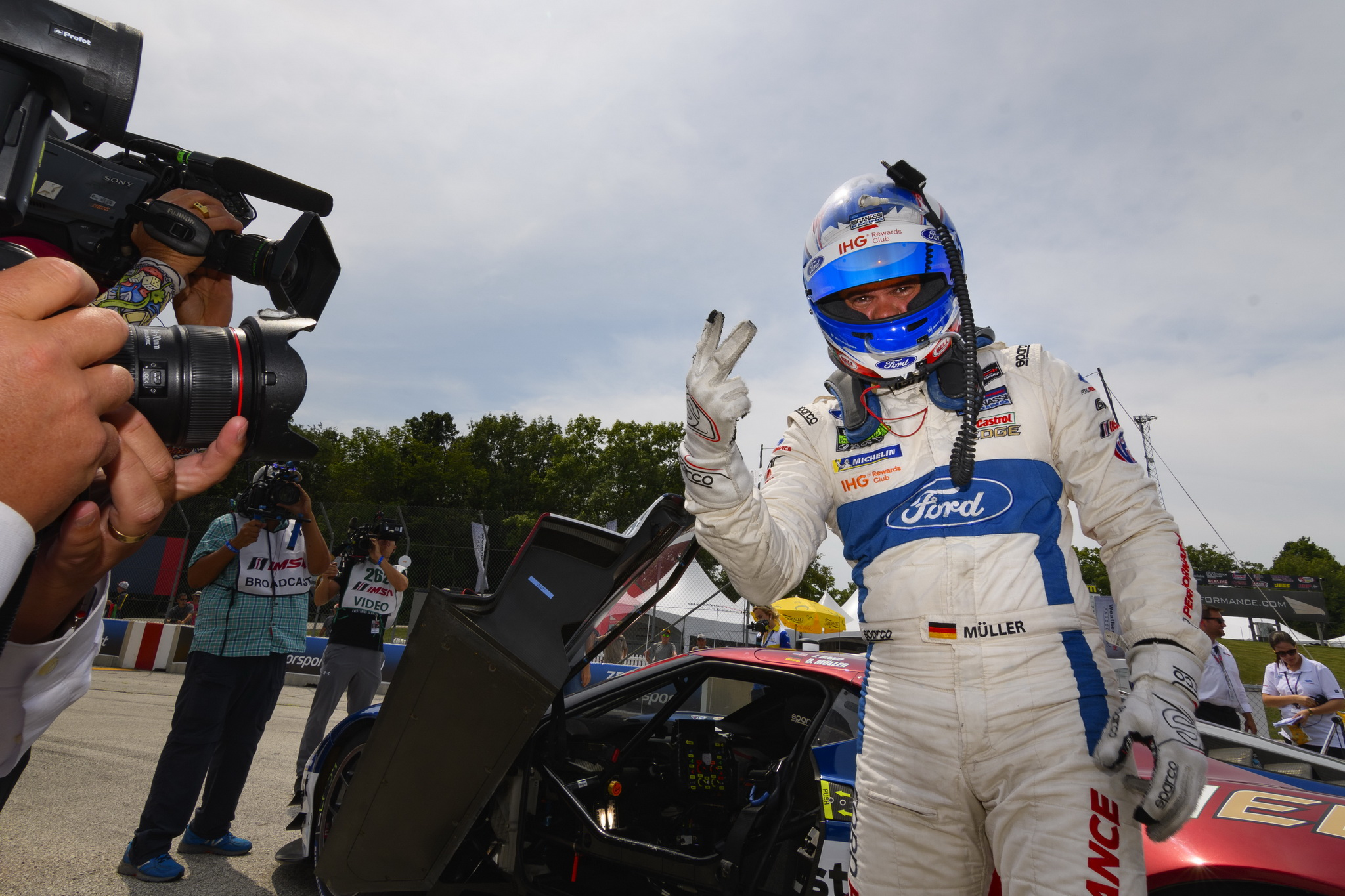 Ford Chip Ganassi Racing Earned Front-Row Lockout as Dirk Müller Qualified on Pole Once Again at Road America