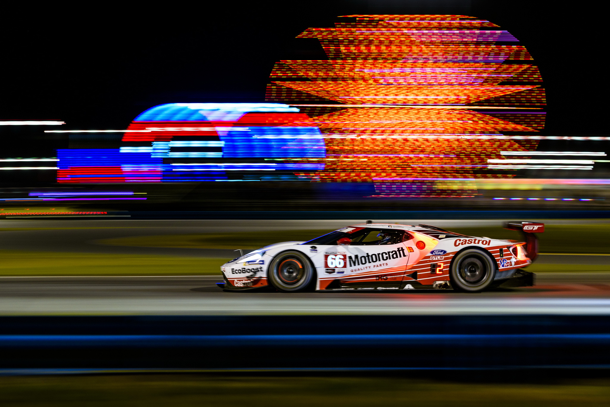 Ford Chip Ganassi Racing Overcomes Five Lap Deficit To Nearly Capture Third Consecutive Win