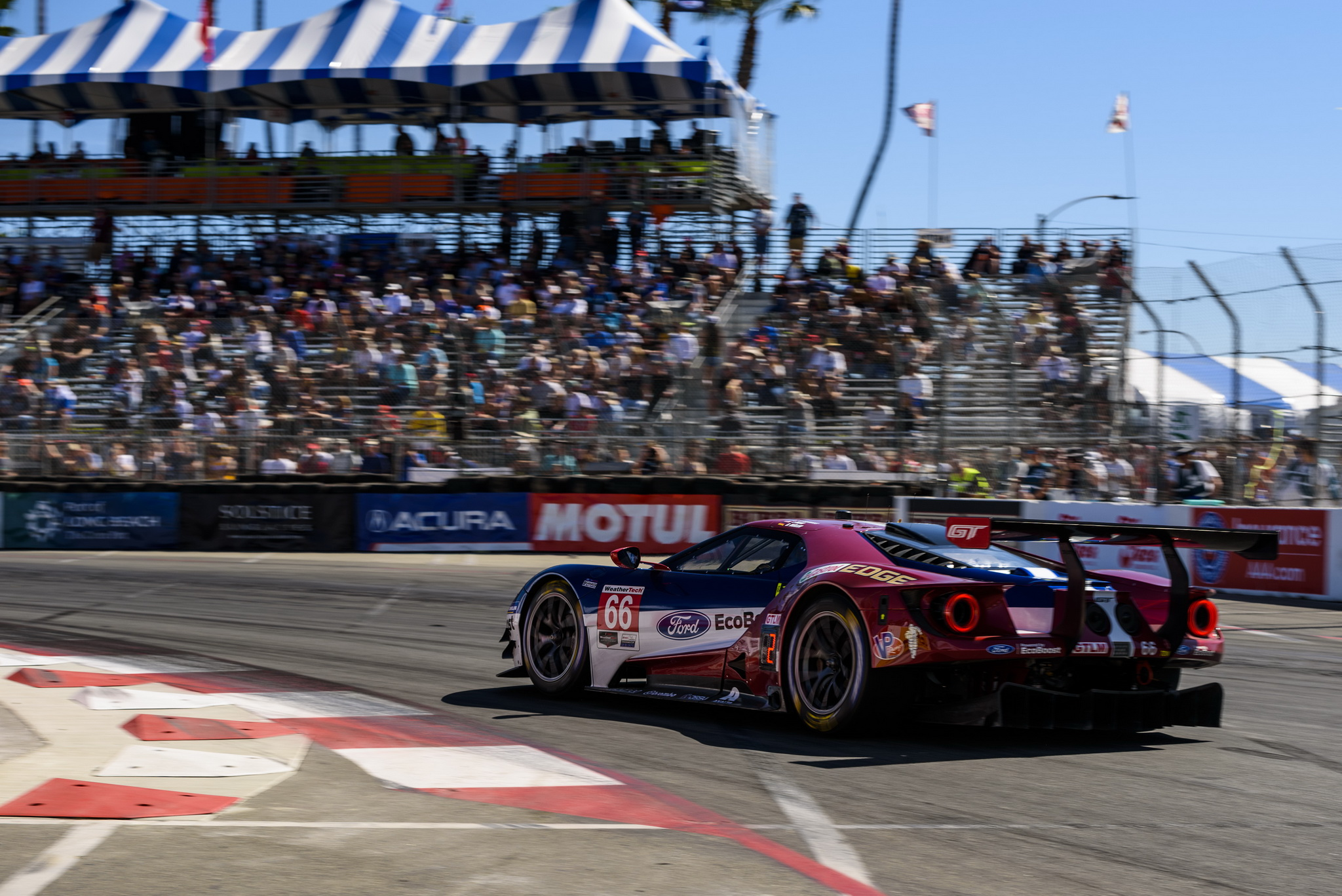 Bold Pit Strategy Narrowly Misses Mark As Ford Chip Ganassi Racing Finishes Fourth, Sixth In Long Beach