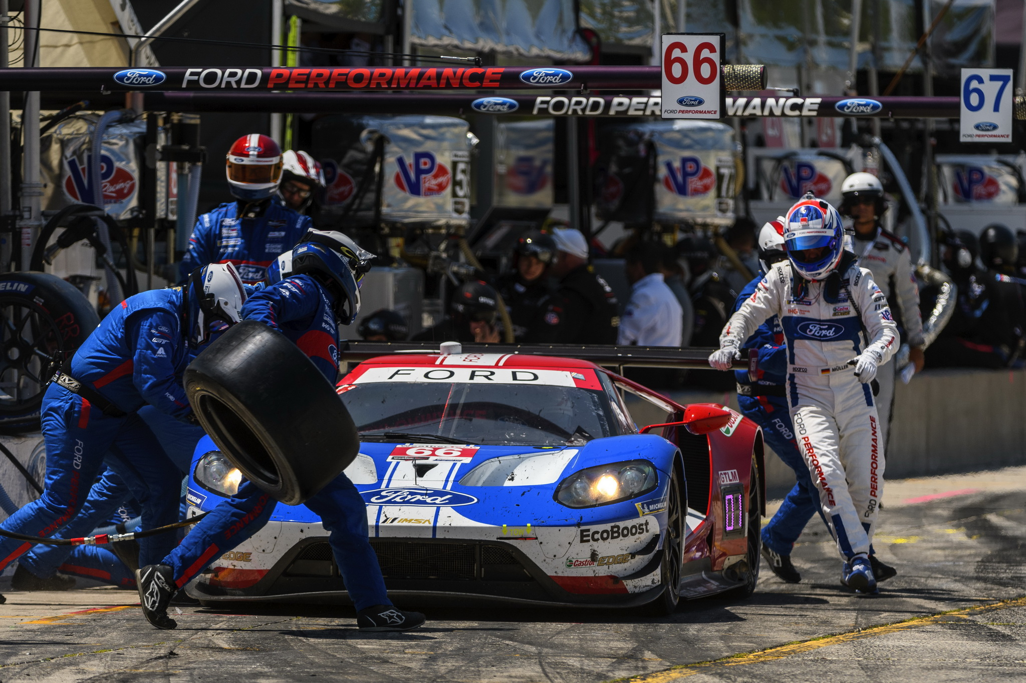 Ford Chip Ganassi Racing Finishes Fifth, Six at Canadian Tire Motorsport Park