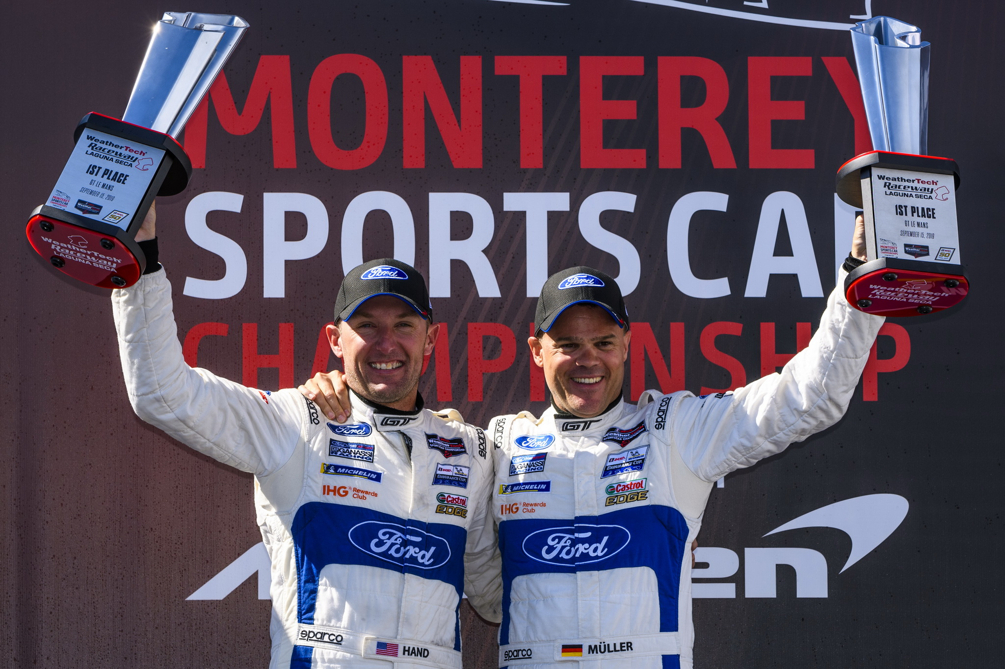Joey Hand, Dirk Müller and No. 66 Ford GT Team Combine for Dominant Laguna Seca Win